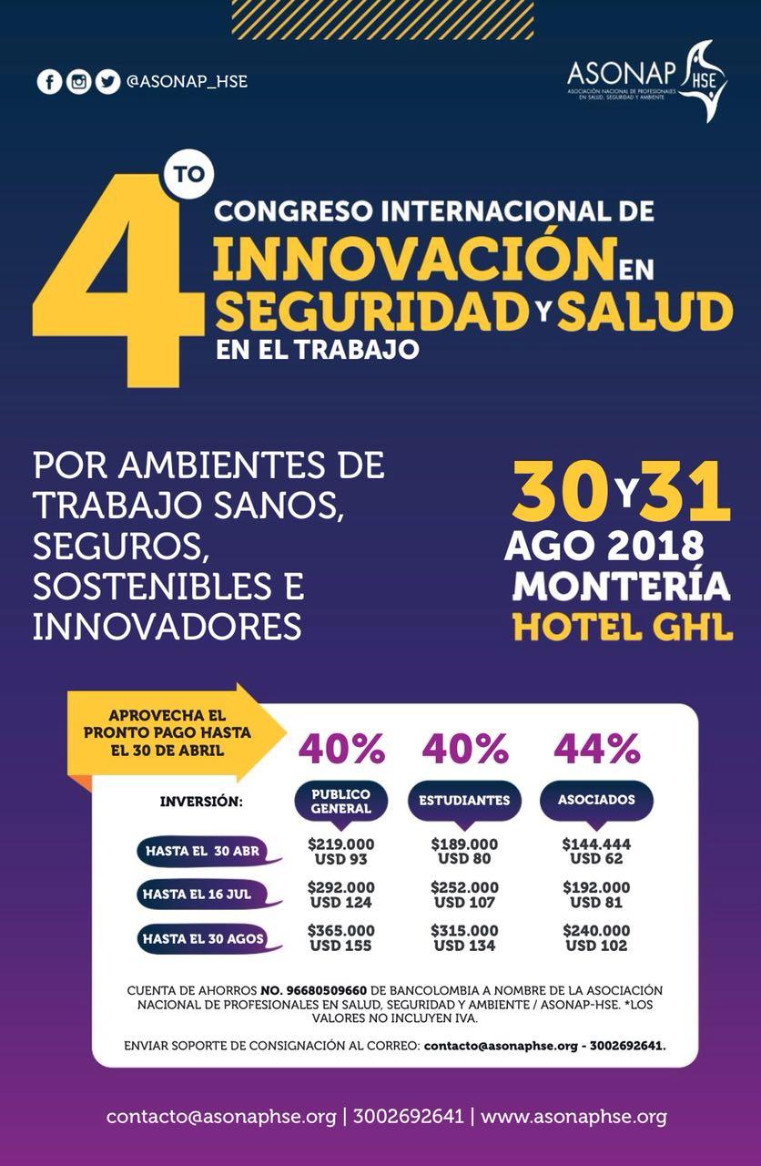 4to Congreso Internacional de Innovación en Seguridad y Salud en el Trabajo