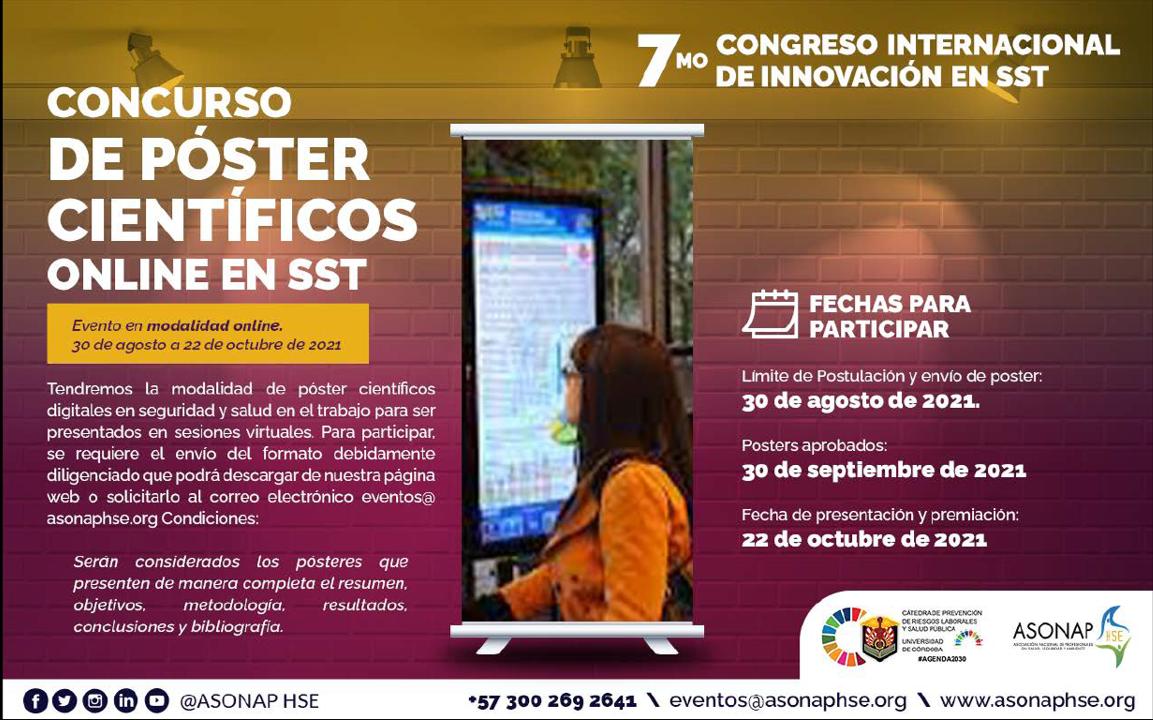 Concurso de Pósteres en el Séptimo Congreso Internacional de Innovación en SST de 2021